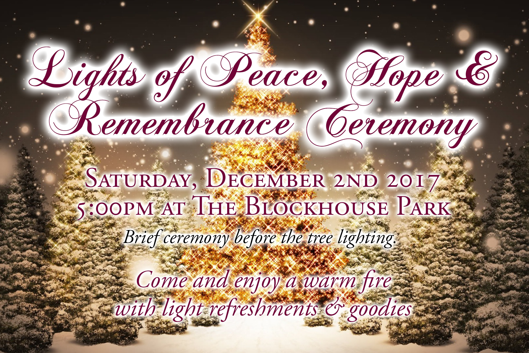 Tree Lighting Ceremony @ Blockhouse Park - Stillwater